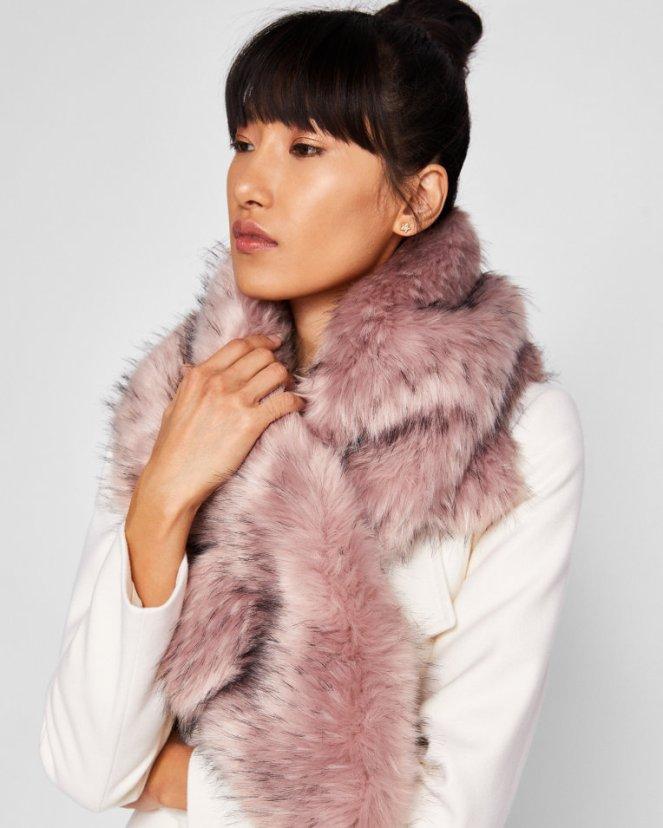 faur fur scarf